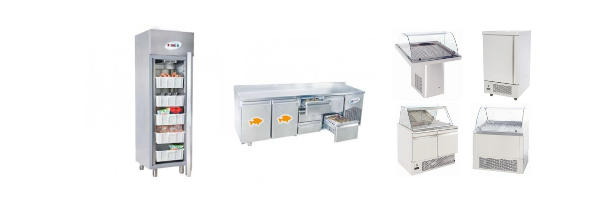 Хладилни шкафове, маси за риба